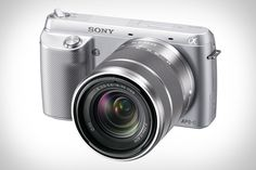 Sony Alpha NEX-F3 Camera featuring 16.1 megapixels, a DSLR-sized Exmor CMOS sensor, compatibility with all Sony E-mount lenses, a 180 degree tiltable LCD screen, a built-in flash, and an included 18-55 mm kit lens. $600