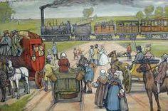 1839 - De eerste trein, the first train