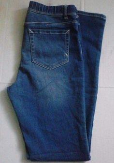 Girls Jordache Jeggings Stretch Blue Jeans Hidden Elastic 5 Pockets Sz XL 14/16 #Jordache #LeggingsJeggings #DressyEverydayHoliday