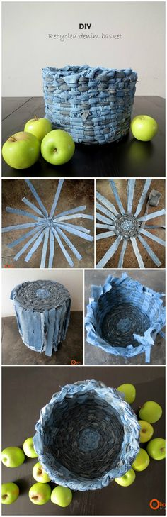 All of these recycle jeans ideas are very easy to create and easily can be understood. Old jeans can be transformed into cushion covers, Recycler Diy, Recycling, Denim Crafts, Textiles, Diy Arts And Crafts, Recycled Fabric, Diy Clothes, Decoration, Craft Projects