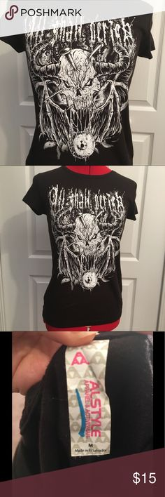 All Shall Perish Tee (B&W) Another All Shall Perish Tee in excellent condition. Fitted women's tee Alstyle Tops Tees - Short Sleeve