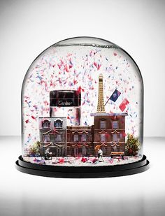 Andy Barter Creates 3 Very Graphic Winter Wonderlands for Cartier I Love Snow, Let It Snow, Globe Art, Christmas Snow Globes, Water Globes, The Bell Jar, Snowball, Crystal Ball, Trinket Boxes