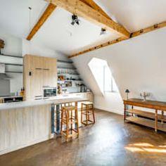Lirowa industrialna kuchnia od kodo projekty i realizacje wnętrz industrialny   homify Paris, Divider, Loft, Furniture, Home Decor, Photos, Design Ideas, Home, Attic Spaces