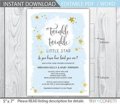 twinkle twinkle little star invitation / twinkle by TinyConfetti