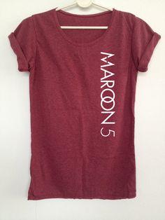 Maroon 5 shirt Adam Levine rocker music tshirt by rainbowtshirt