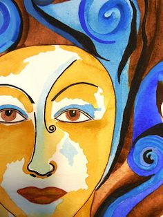 Symbolism of the #MorningGlory #Goddess Original Painting by Jeanne Fry Art