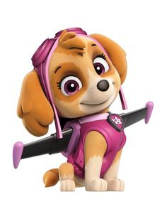 Skye is a cockapoo (Cocker Spaniel/Poodle mix), who is the Skye is the only female member of the PAW Patrol, her main color is pink. Skye Paw Patrol Costume, Paw Patrol Halloween Costume, Skye Costume, Skye Paw Patrol Cake, Paw Patrol Birthday Theme, Paw Patrol Party, Paw Patrol Png, Personajes Paw Patrol, Cumple Paw Patrol