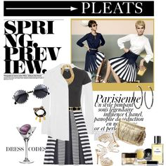 """""""Spring Trend: Pleats!"""" by sophisty on Polyvore"""