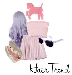 """""""Hair trend"""" by angelblakeman ❤ liked on Polyvore featuring beauty, 2NDDAY, WithChic, hairtrend, magic and unicornmakeup"""
