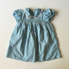 SOLD Vintage Sky Blue Baby Dress for sale here https://www.etsy.com/listing/294113089/vintage-victorian-style-baby-dress-in?ref=shop_home_active_10