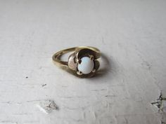 Vintage 10k Gold Ring With Opal c1960s Marked by LUXXORVintage, $268.00