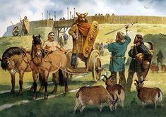 Descritti da sempre come uomini violenti e duri ma i Liguri Apuani non furono solo questo, furono anche abili commercianti. Ma cosa potevano commerciare in una terra come la nostra ricoperta da alberi, rocce e animali selvatici? Se guardiamo a fondo sono i soliti prodotti che i nostri nonni vendevano ai mercati garfagnini. Ma il loro prodotto di punta era un altro...vendere se stessi in quello che gli riusciva meglio... Camel, Horses, Terra, Painting, Animals, Google, Animales, Animaux, Painting Art