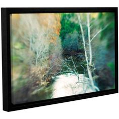 ArtWall Elena Ray Calm River Gallery-wrapped Floater-framed Canvas, Size: 32 x 48, White