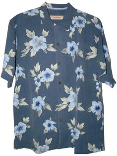 4f9ca028 Tommy Bahama Palace Floral Silk Camp Shirt (Color: Black, Size XXL) at Amazon  Men's Clothing store: