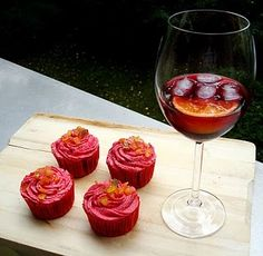 Sangria cupcakes with the recipe. She moved her blog but I tracked it down! I think this means I'll have to make them. ;)