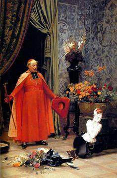 Jehan Georges Vibert (30 de septiembre de 1840 – 28 de julio de 1902) fue un pintor francés. Nacido en París, comienza su formación artística desde joven bajo las instrucciones de su abuelo materno, el grabador Jean-Pierre-Marie Jazet