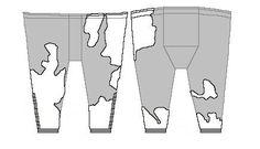 """Pattern drawing of the Skjoldehamn trousers by Marc Carlson based on an original in GUtorm Gjessing, """"Skjoldehamndrakten, en Senmiddelaldersk Nordnorsk Mannsdrakt"""""""