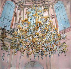 """""""Abbey"""" (Bavaria), 60x60"""", oil on canvas, 2011, MARY ANN STRANDELL ©"""