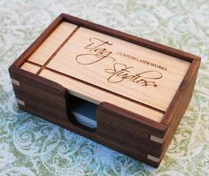 Personalized Business Card Box solid hardwoods by iTagStudios, $45.00