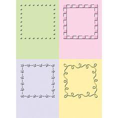 "2"" x 2.75"" Embossing Folder Set - Decorative Squares #2"