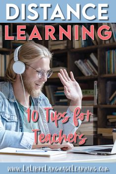 10 Distance Learning Tips for Teachers – La Libre Language Learning High School Activities, Teaching Activities, Teaching Tools, Teacher Resources, Spanish Activities, Teacher Blogs, Teaching Reading, Teaching French, Teaching Spanish