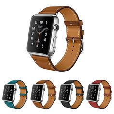 Genuine Leather Strap For Apple Watch band 42mm 38mm Leather Bracelet For Iwatch Strap Band Series 1 & 2