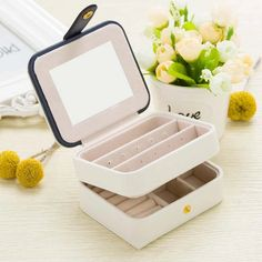 Jewelry Casket Packaging Box Makeup Organizer Box For Exquisite Cosmetic Beauty Case Container Boxes Graduation Etc. Travel Jewelry Box, Small Jewelry Box, Jewelry Case, Jewellery Box, Make Up Organiser, Organiser Box, Bridal Accessories, Jewelry Accessories, Women Jewelry