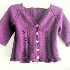 Knitting PATTERN Seamless Top Down BABY Girl CARDIGAN Vest Sweater - Freya a frilly lacy seamless cardigan