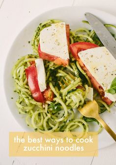 "One of the questions I'm asked most frequently is, ""What's the best way to cook zucchini noodles?"" Zucchini can be tricky, because it's made up of over 95% water and t…"