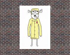 Cartoon Moose - Moose Picture - Elk Drawing - Smiling Moose - Moose head - Cartoon Graffiti - Graffiti Characters - F**K THE RAIN MOOSE Cartoon Graffiti, Graffiti Characters, Fictional Characters, Moose Head, Moose Art, Elk Drawing, Moose Pictures, Copenhagen, Canvas Art