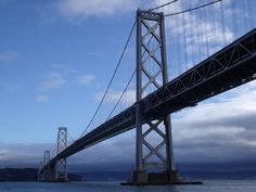 The Bay Bridge on a very clear day and a very blue sky - a somewhat rare day in San Francisco