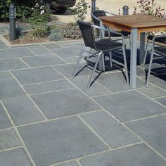 Fairford Grey Decorative Concrete Paving - This grey concrete paving slab has a shallow riven surface for a classic look. Concrete Paving Slabs, Grey Paving, Patio Slabs, Paving Stones, Concrete Patio, Garden Slabs, Garden Planters, Paver Designs, Paving Design