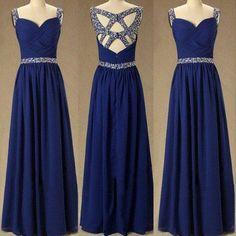A-line Prom Dress,Beaded Prom Dress,Sleeveless Fashion Prom Dress