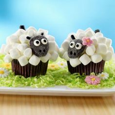 Sheep Cupcakes! For First Reconciliation!
