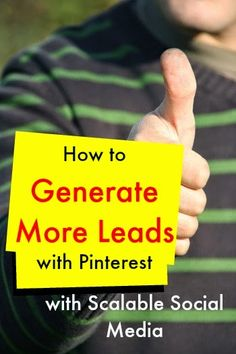 How to generate more leads with Pinterest with Scalable Social Media