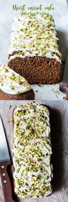 Carrot loaf with cashew frosting