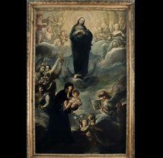 Immacolata e San Gaetano da Thiene.  Pinacoteca della Santa Casa . Loreto.