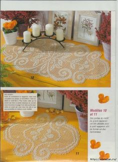Crocheted filet round doily crocheted doilies pinterest