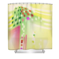 Yellow Shower Curtain featuring the digital art Digital Mind by Ron Labryzz
