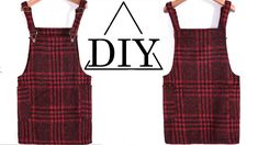 Here's a DiY tutorial on how to make a plaid overall  ...  ...  WATCH THESE ViDEOS: How to Make a Long Sleeve Maxi Dress with Side Slits:  ...  How to make a cut-out midi dress with a slit:  ... . Diy, How, Make, Dress,