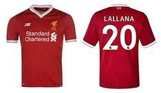 Liverpool FC Men's Football Shirt 2017/2018Home–Lallana 20, Coutinho 10