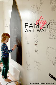 DIY kids art wall - how fun would this be for the whole family?!