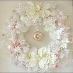 Enchanted Rose Studio: HAPPY PINK SATURDAY! PRETTY IN PINKS HOLIDAY WREATHS TO SHARE!