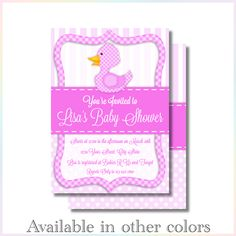Personalized Printable Invitations | Duckie | Baby Shower