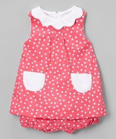 Another great find on #zulily! Pink & White Polka Dot A-Line Dress & Diaper Cover - Infant #zulilyfinds
