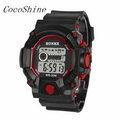 >> Click to Buy << CocoShine A-728  Mens LED Digital Date Alarm Waterproof Rubber Sports Army Watch Wristwatch wholesale Free shipping #Affiliate