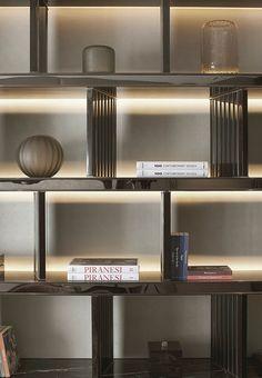 Slotted dividers Shelving Design, Shelf Design, Cabinet Design, Wall Design, House Design, Sign Design, Slot, Wall Bookshelves, Bookcase