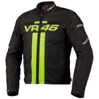 Dainese VR46 inspirada en el piloto de MotoGP Valentino Rossi.Ideal para uso en moto tanto en ciudad como en carretera.    -Fabricada en cordura.  -Protecciones desmontables en codos y hombros  -Posibilidad de instalar espaldera G1 y G2  -Forro térmico desmontable  -Cremallera unión chaqueta pantalón
