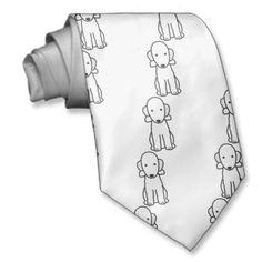 Bedlington Terrier Dog Cartoon Neck Wear
