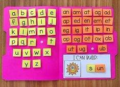 CVC Word Builder Activity - Word Families by My Teaching Pal Word Family Activities, English Activities, Preschool Learning Activities, Preschool Lessons, Preschool Classroom, Phonics Lessons, Rhyming Activities, Phonics Reading, Teaching Phonics